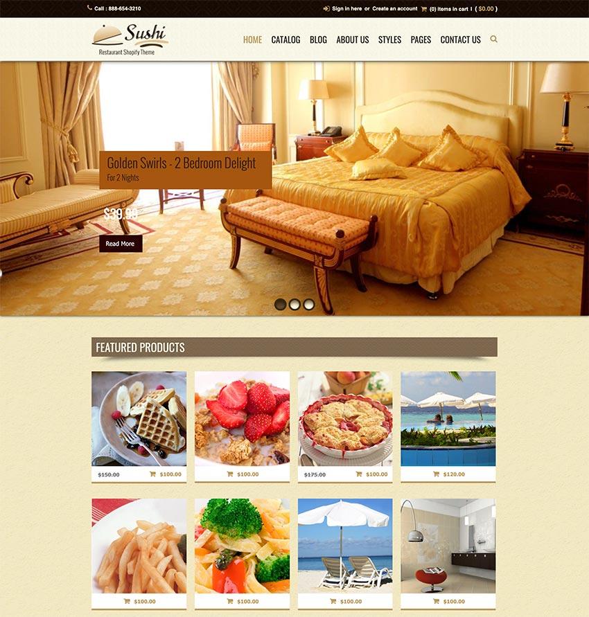 Sushi Shopify Menu Restaurant Theme