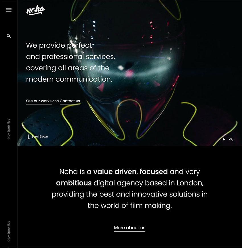 Noha - A modern Agency WordPress Theme for Creatives