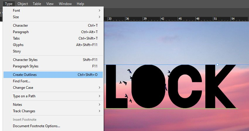 Create Outliens For Type