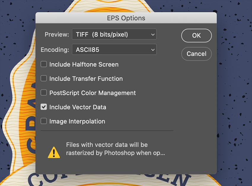 EPS Options Dialog Box