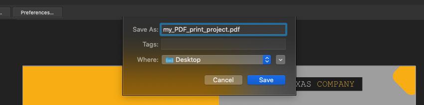 Affinity Publisher Save PDF Print