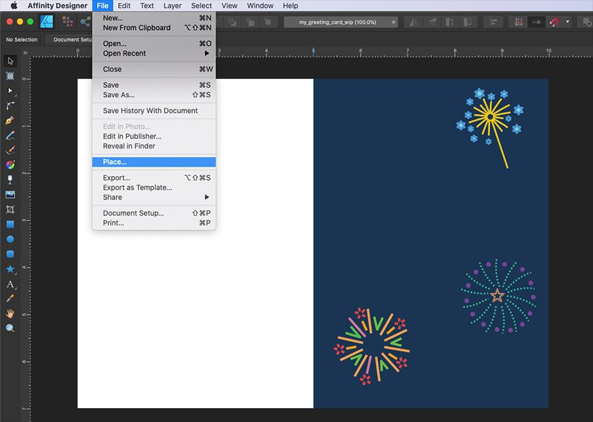 Affinity Designer Template Greeting Card Add More Fireworks