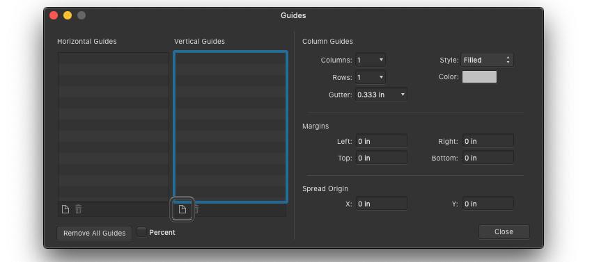 Affinity Designer Template Add Guide