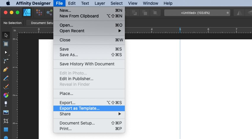 Affinity Designer Export As Template