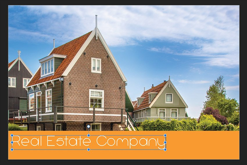 Affinity Publisher Real Estate Postcard Artistic Text Tool