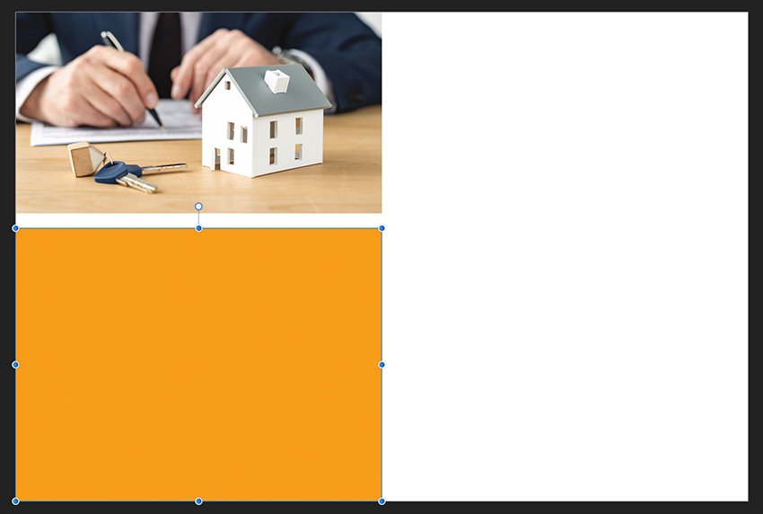 Affinity Publisher Real Estate Postcard Rectangle Tool