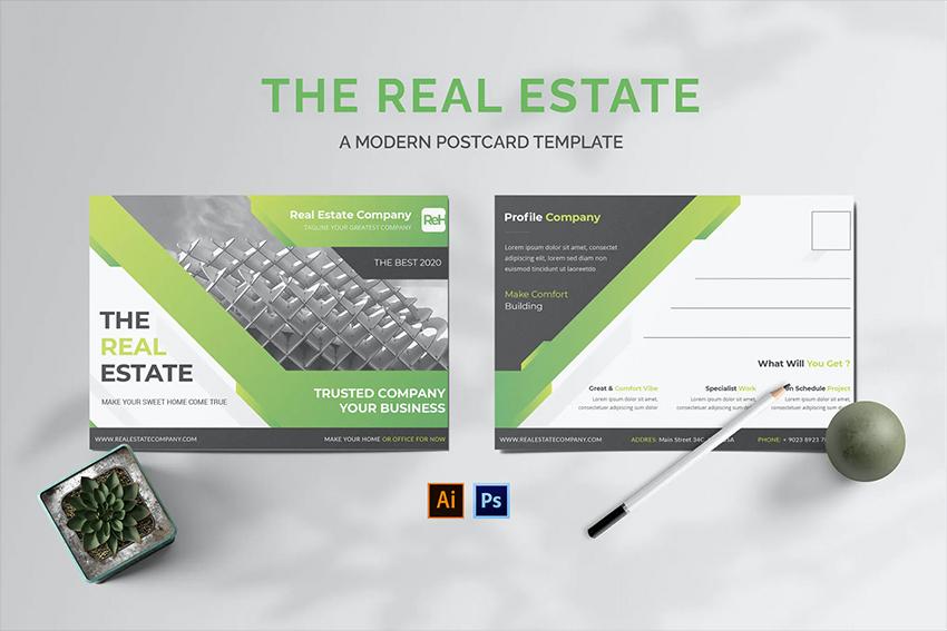 Envato Elements Real Estate Postcard