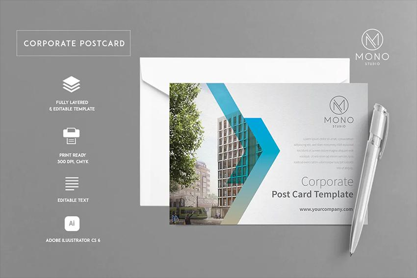 Envato Elements Business Postcard Template