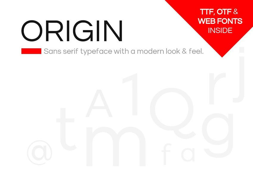 Origin Envato Elements Font