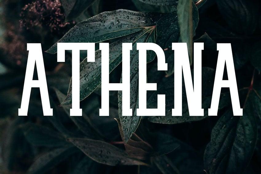 ATHENA Typeface Serif Web Fonts