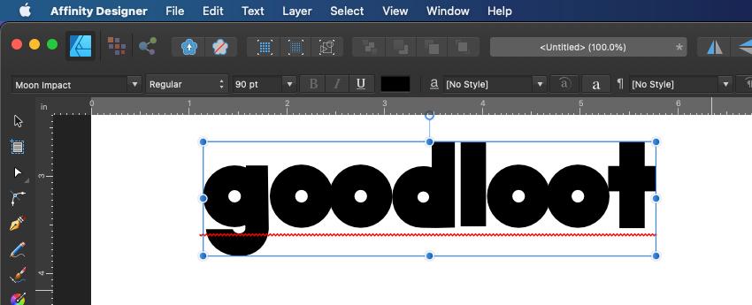 Affinity Designer Type Text