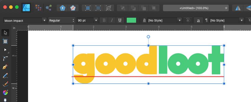 Affinity Designer Logo Select Colors
