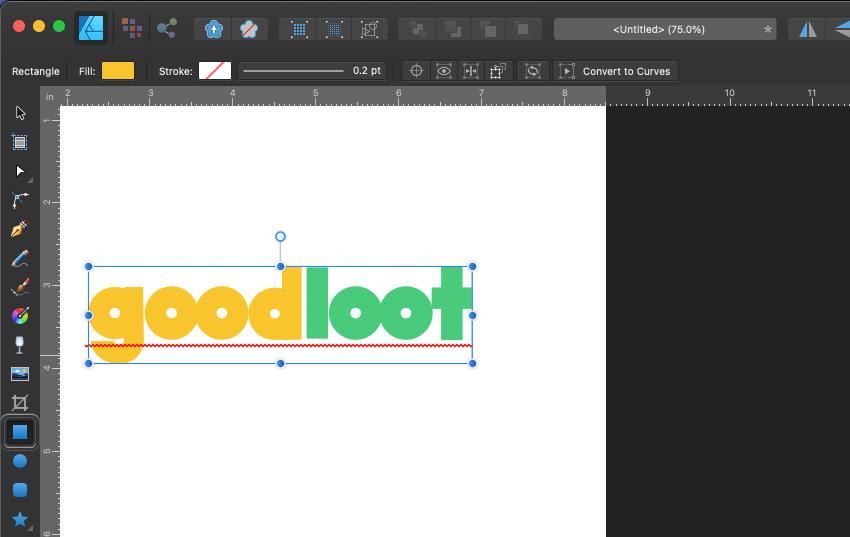 Affinity Designer Logo Select Rectangle