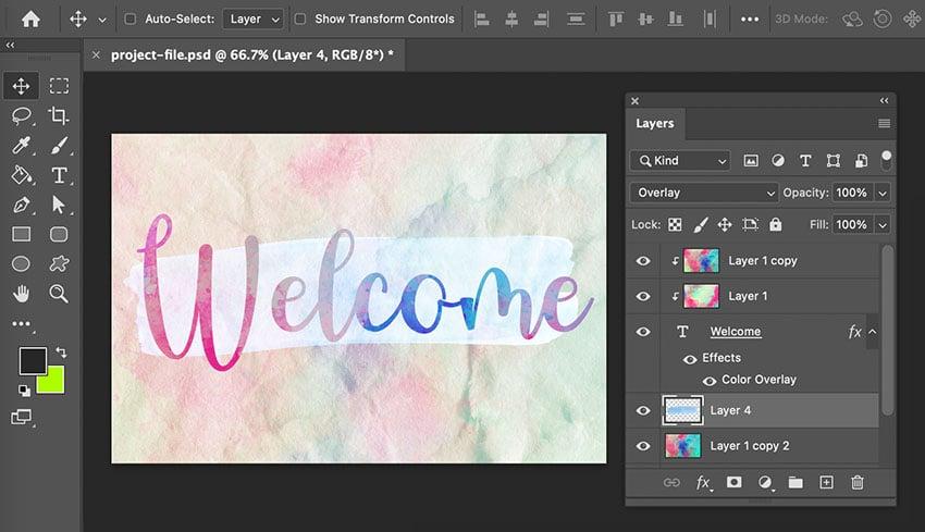 Put Texture On Text Overlay