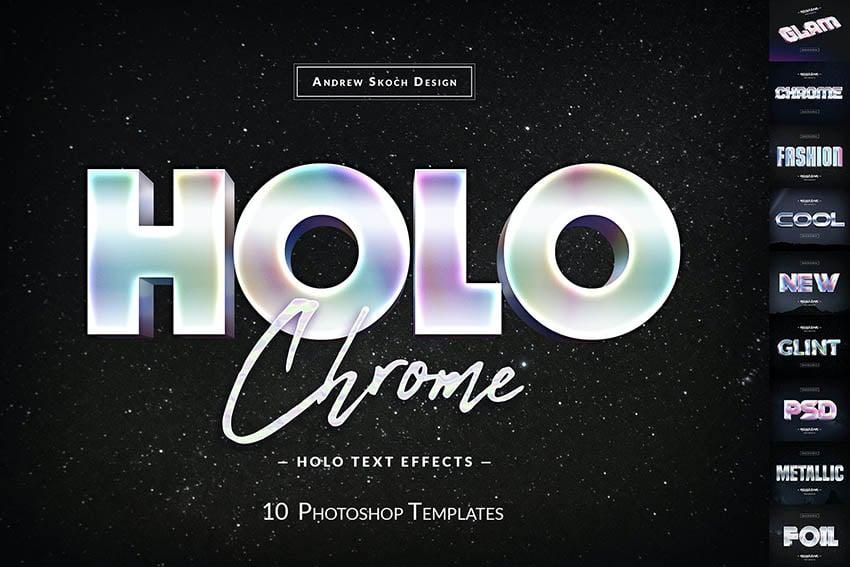 Envato Elements Text Effect Holo