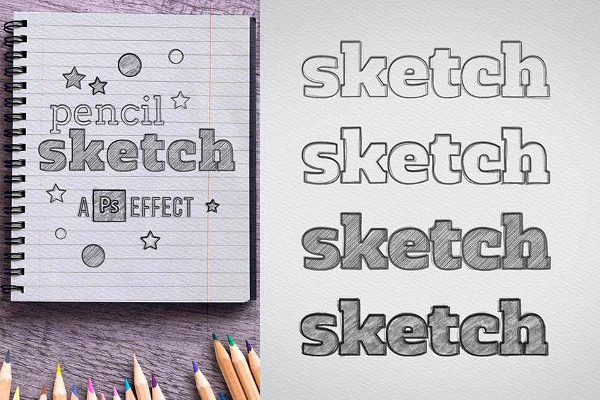 Envato Elements Text Effect Sketch