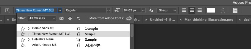 System Fonts Easily Available