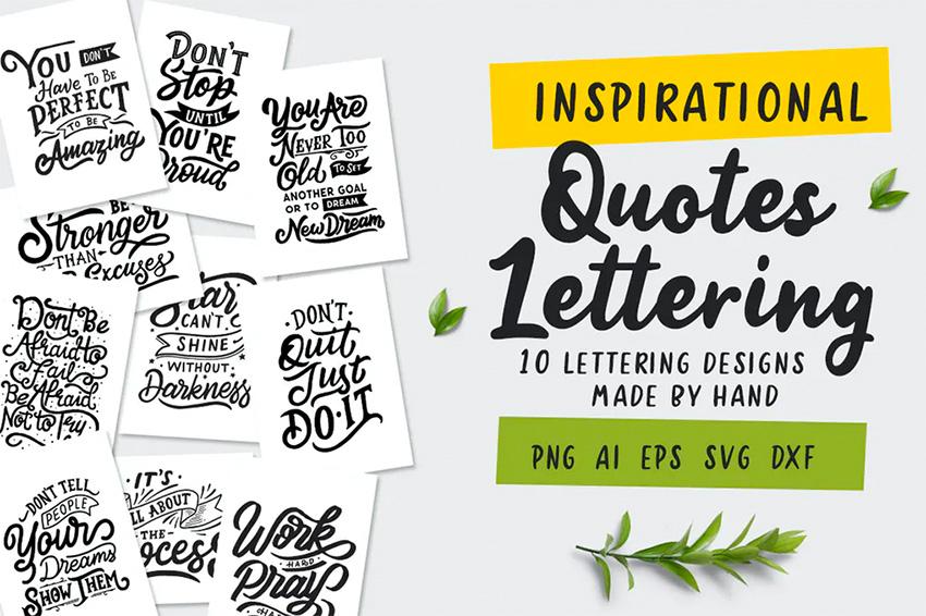 Envato Elements Inspirational Quotes SVG