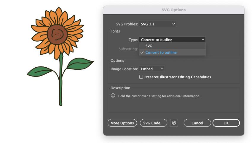 Illustrator Cricut Convert tO Outline SVG