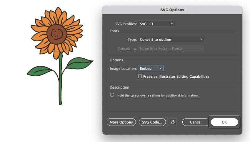 Cricut Illustrator SVG OK