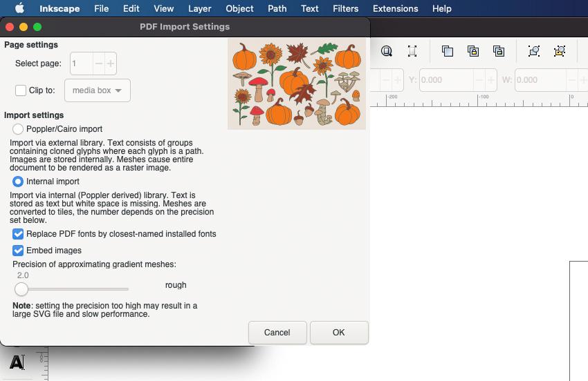 Cricut SVG Inkscape Project