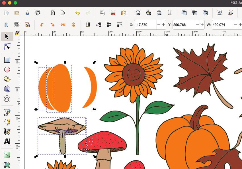 Inkscape Delete Selections SVG
