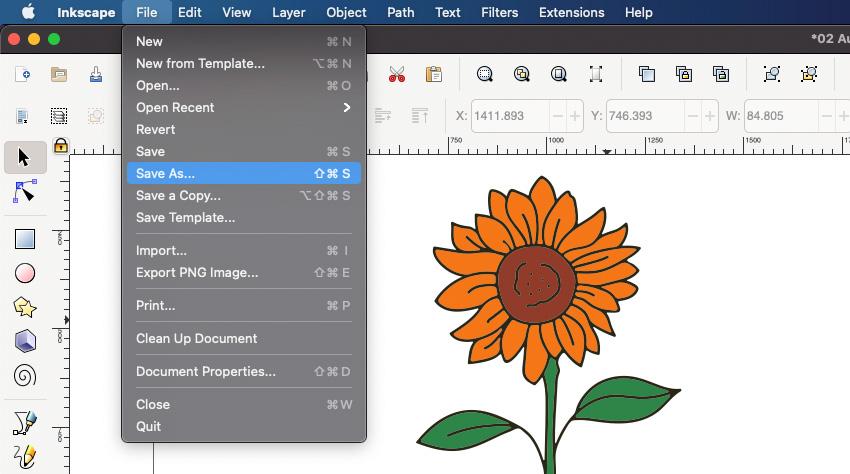Inkscape SVG Save As