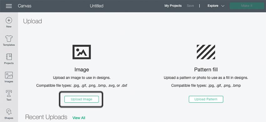 Cricut Illustrator SVG Import Upload Image