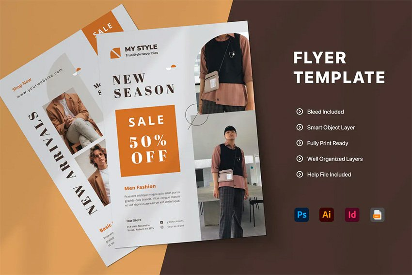 Envato Elements InDesign Template Sale Flyer