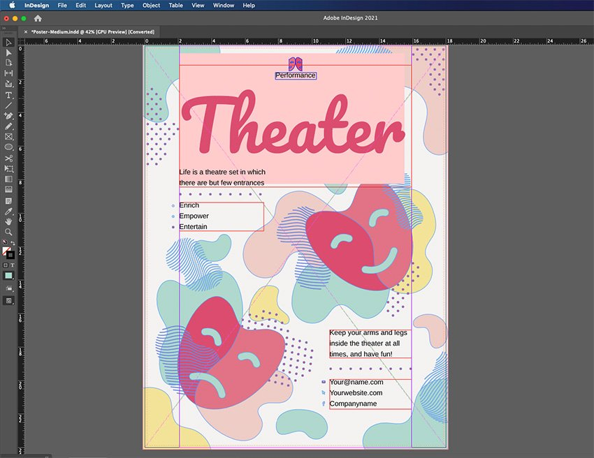 InDesign Start Curve Text Project