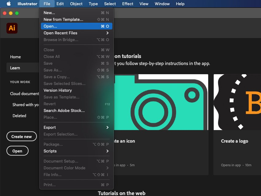 How to Trace Image In Illustrator Open File