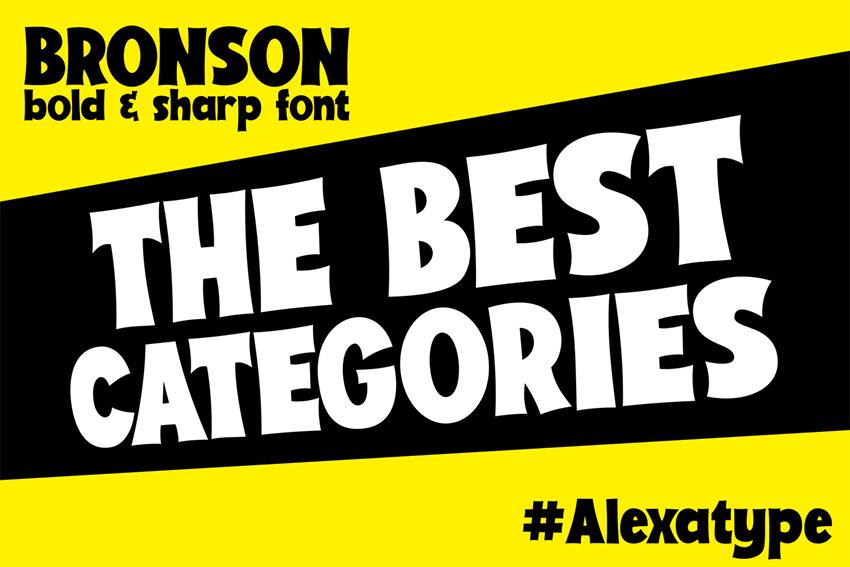 Bronson Bold Font