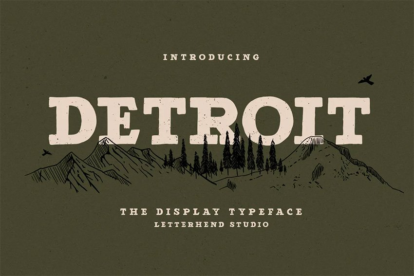 Detroit Cool Bold Fonts