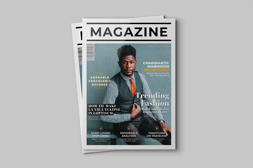 Envato Elements InDesign Magazine Template
