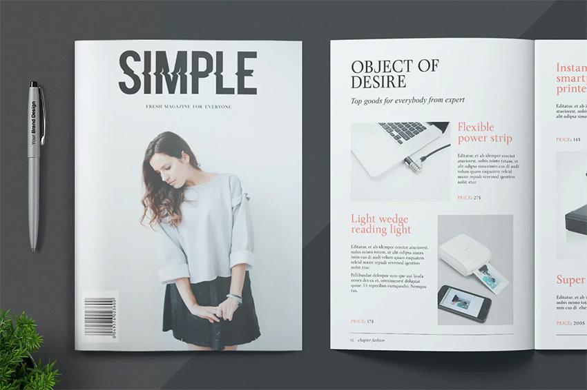 Envato Elements InDesign Simple Magazine Template