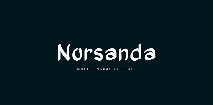 Norsanda - Silhouette Cursive Font
