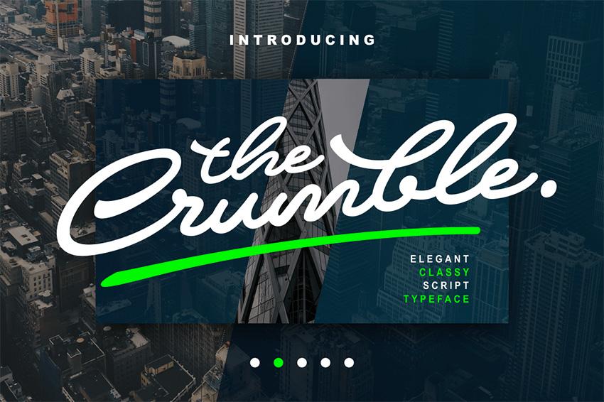 The Crumble - Silhouette Cursive Fonts