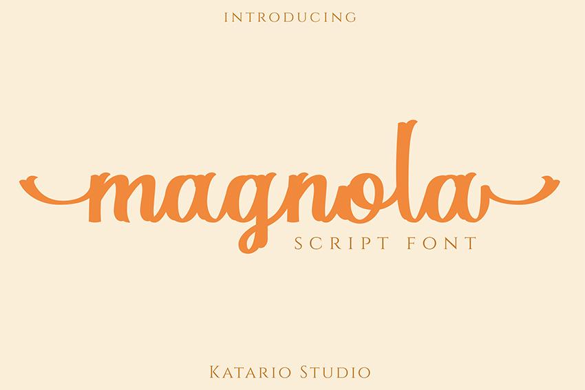 Magnola - Silhouette Cursive Font