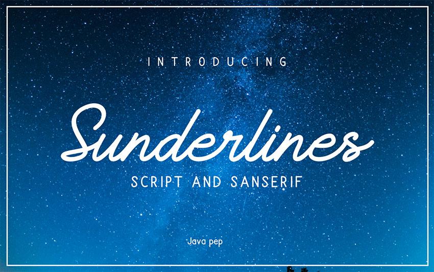 Sunderlines - Silhouette Script Font