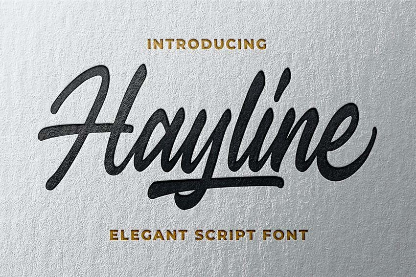 Hayline - Elegant Silouetto Script Font