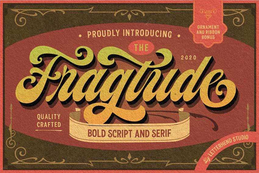 Fragtude - Silhouetto Script Typeface
