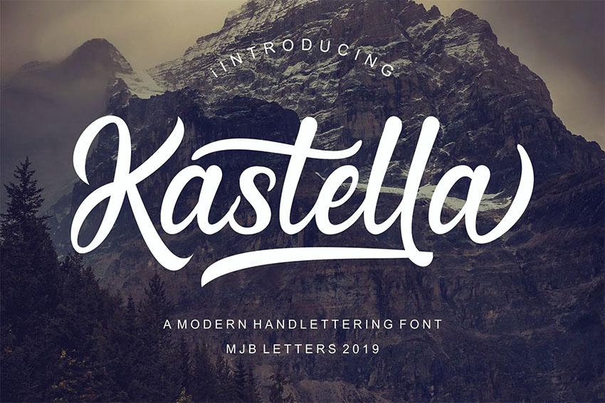 Kastella Silouetto Script Font