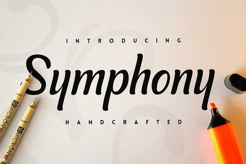 Symphony Silhouetto Script Font