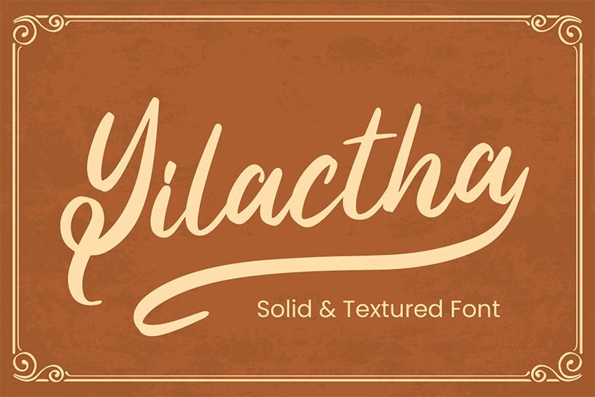Yilactha - Silouetto Script Font