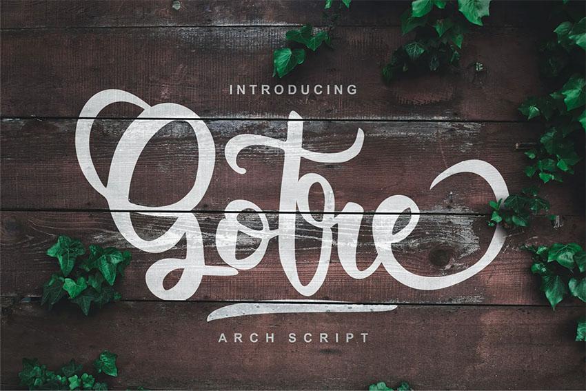 Gorte (Popular Tattoo Script Fonts)