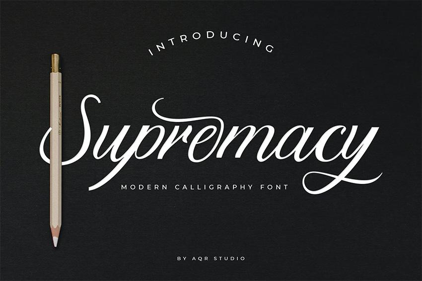 Supremacy (Popular Handwritten Script Fonts)