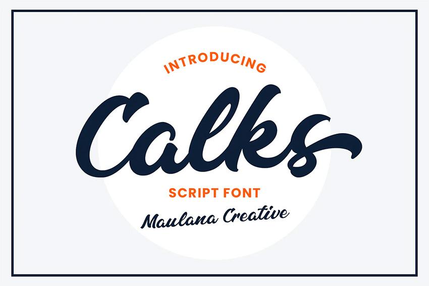 Calks (Most Popular Script Fonts)