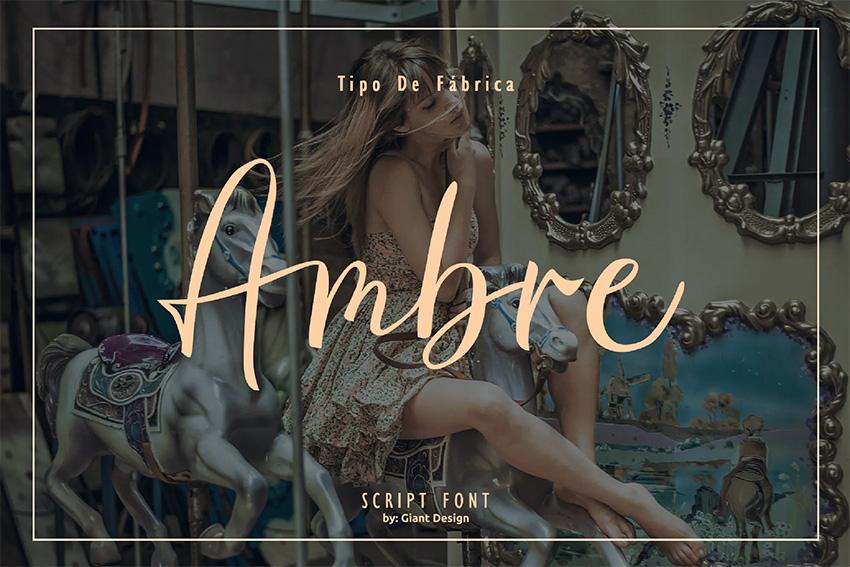 Ambre (Popular Wedding Script Fonts)