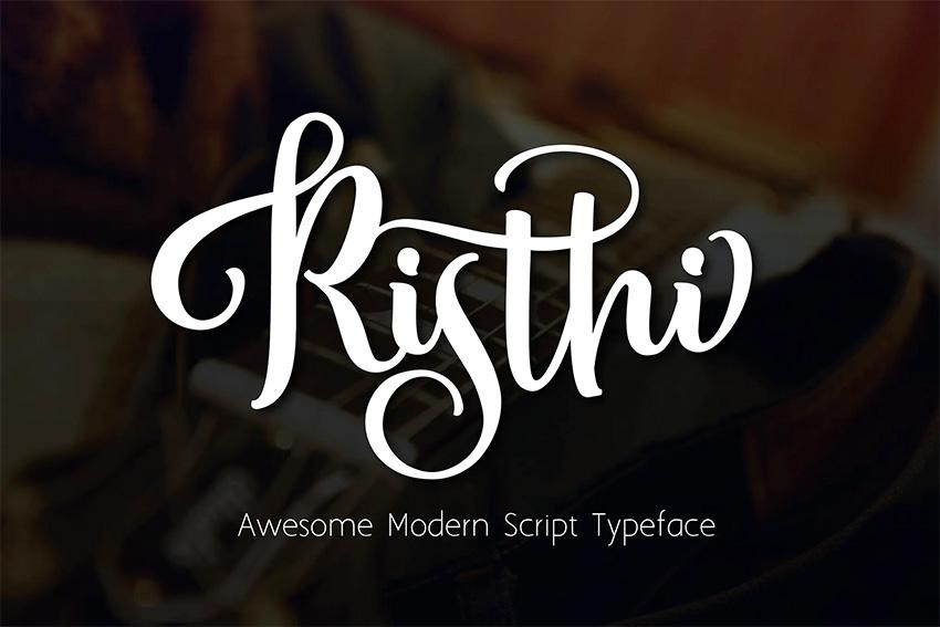 Risti (Popular Brush Script Fonts)