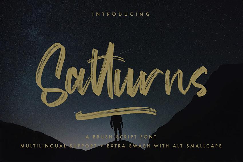 Satturus (Popular Brush Script Fonts)